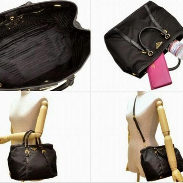 PRADA Tessuto Nylon and Soft Calf Leather Satchel Bag BN1841 (3 Colors to  choose) eb4e18dd3be72