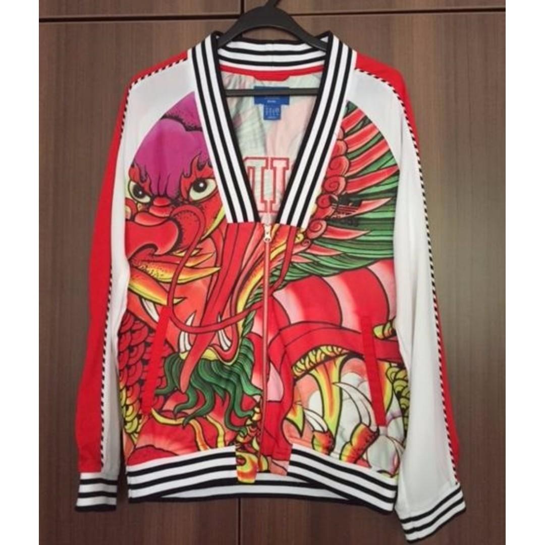 84f6ca3fb PRE LOVED Adidas Rita Ora Dragon Print Track Jacket, Women's Fashion ...