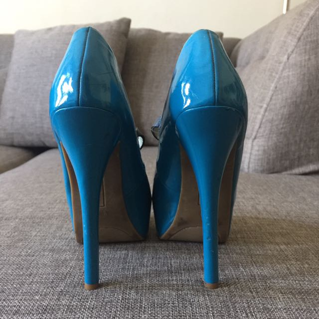PRP Blue Bow Stilettos