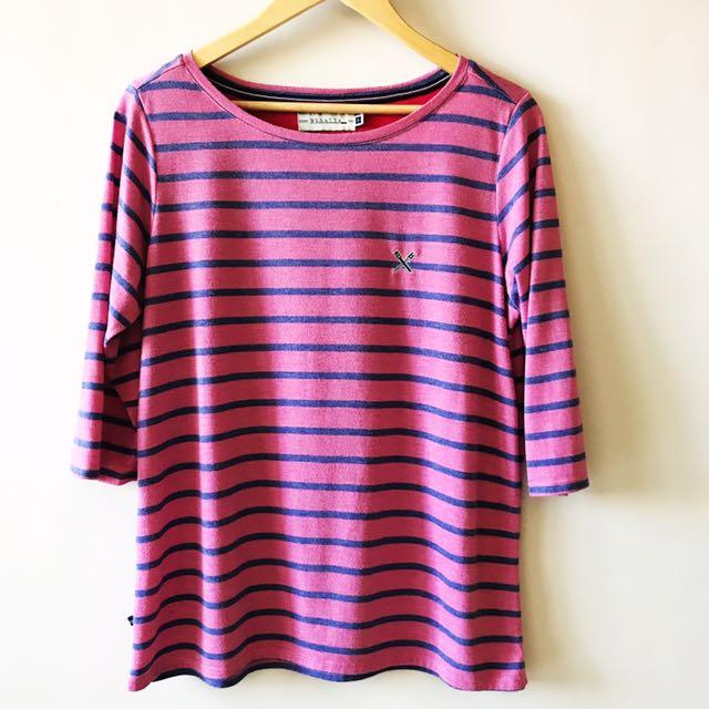 Regatta Pink and Blue Stripes Top