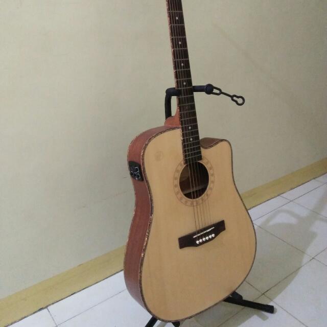 Rj Acoustic Guitar Leopard Music Media Music Instruments On