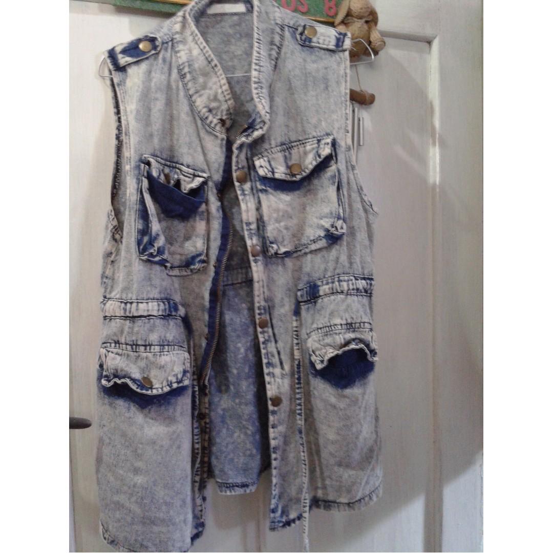 rompi jeans/ mini dress/ dress #bersihkanlemari