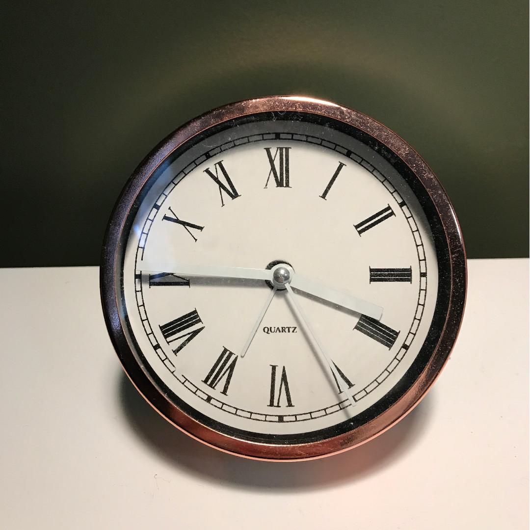 Rose gold Alarm Clock with Roman Numerals
