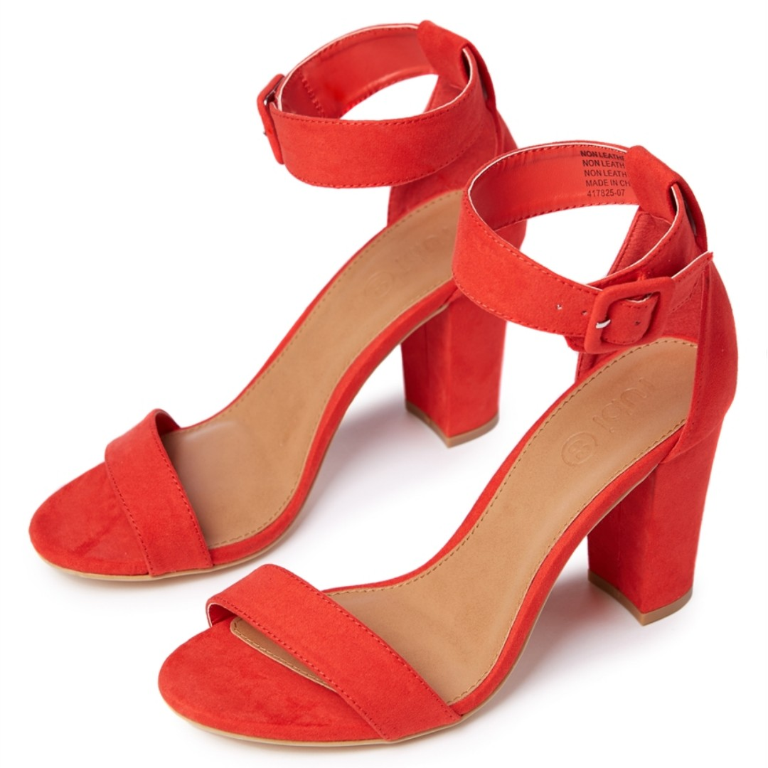 ee11237afbd RUBI SHOES San Fran Red Strappy Block Heels Size 36