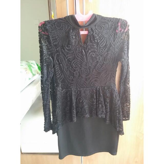 SALE Black Lace Dress