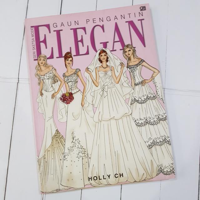 Seri Sketsa Mode Elegan Gaun Pengantin