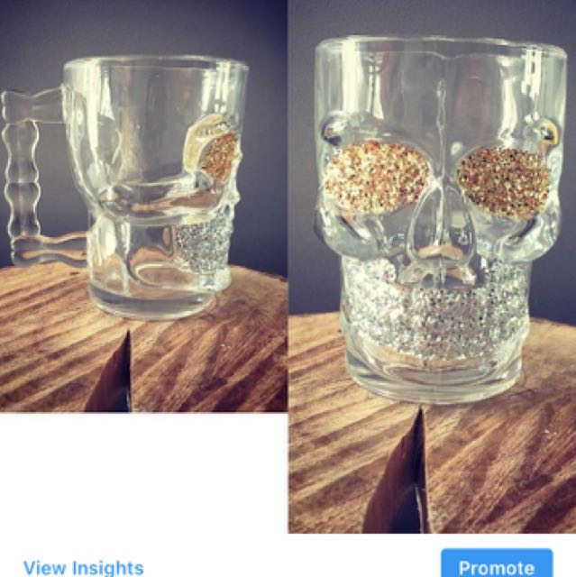 Skull Beer/drinking Mug