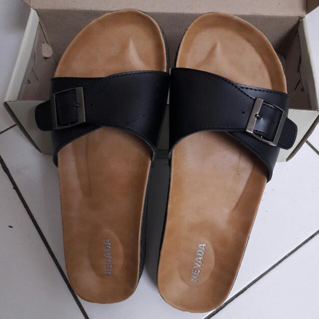 Slip On Black Sandal