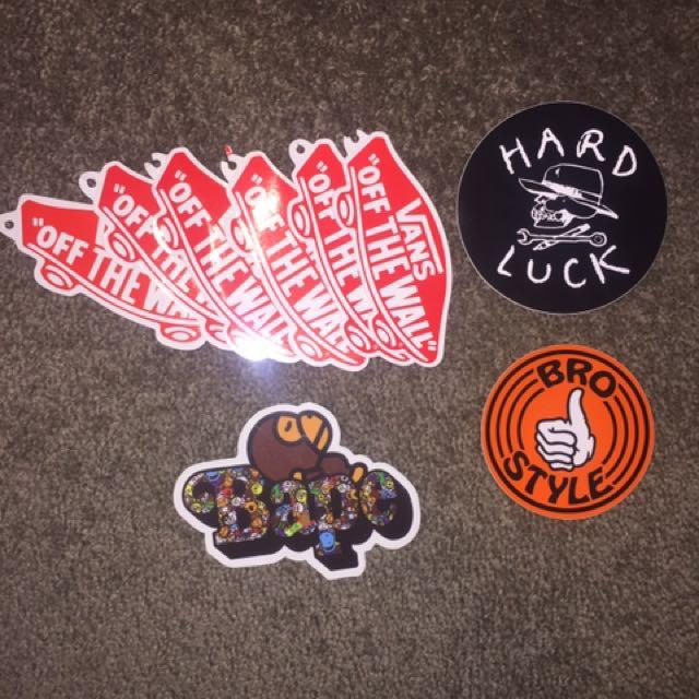 Sticker pack (Vans, Bape)
