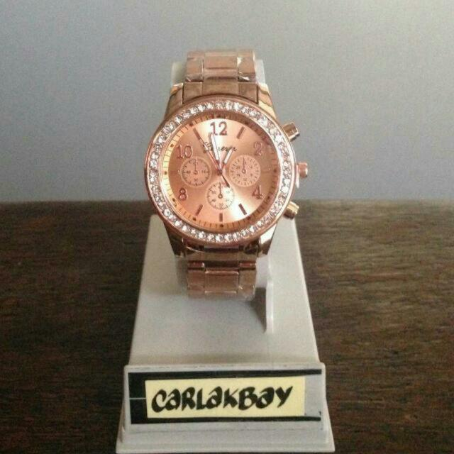 Stock 7: Rose Gold Watch Free Shipping For Metro Manila