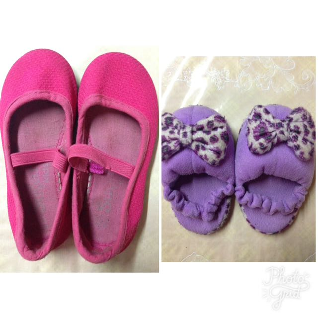 Sugar Kids Pink Ballet Flats And Purple Slippers(softsole)