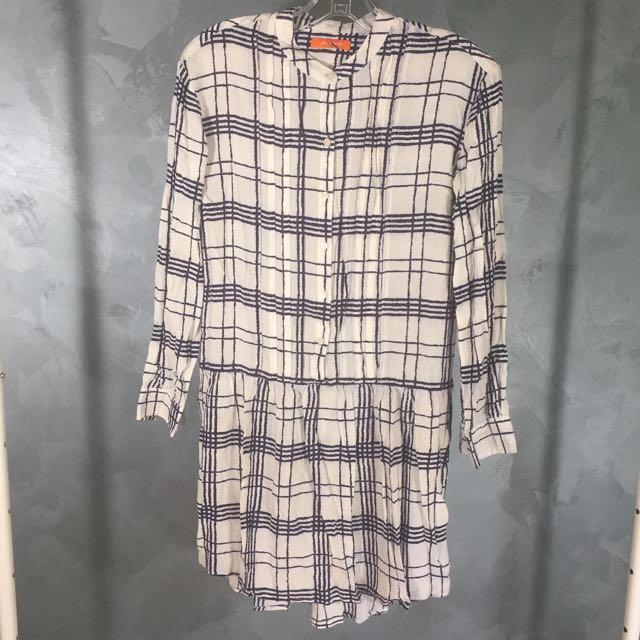 Summer Drop Waist Shirt Dress