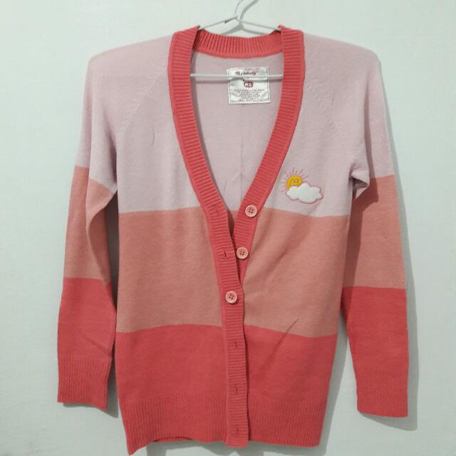Sweater Pink Stripes by 90Degrees