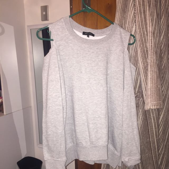Sweatshirt With Holes In Shoulders