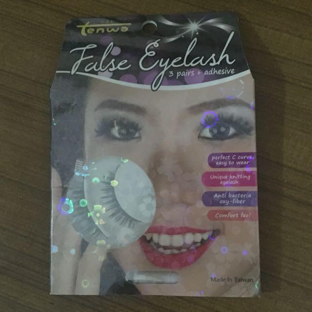 Tenwa False Eyelash (3 Pairs + Adhesive)