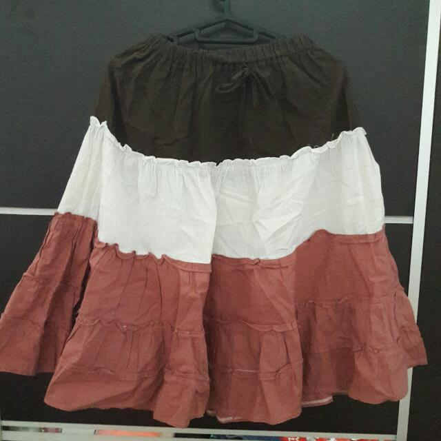 #tisgratis Three Color Skirt