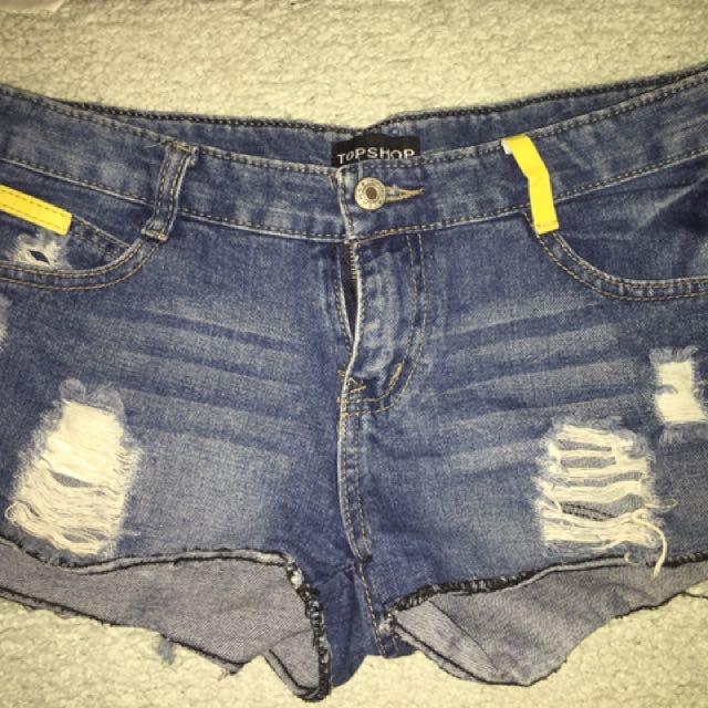 Topshop Maong Shorts