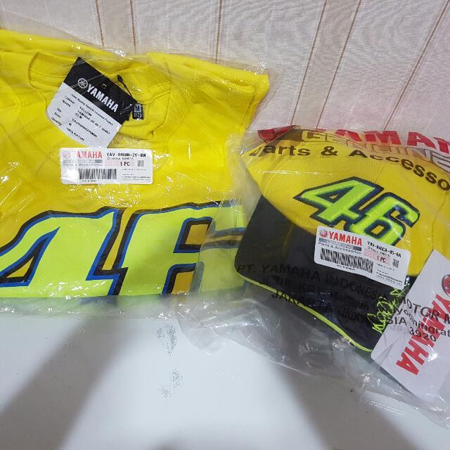 Valentino Rossi merchandise ada Bordir Tanda Tangannya.