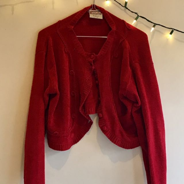 Vintage Rosy Red Knit