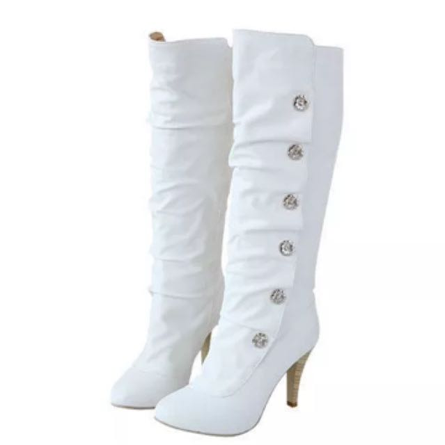 White Boots Brand New And Never Worn