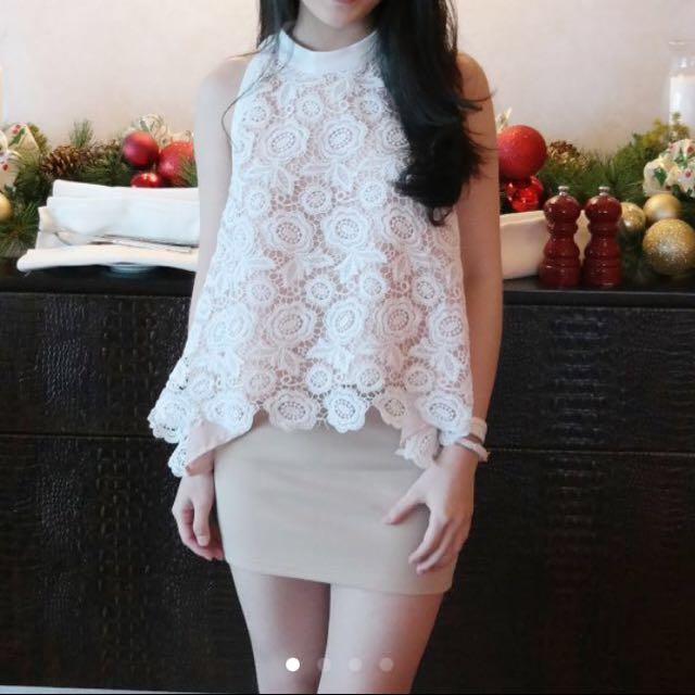 White Lace Top (bagus banget)