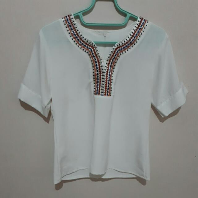 White Loose Blouse