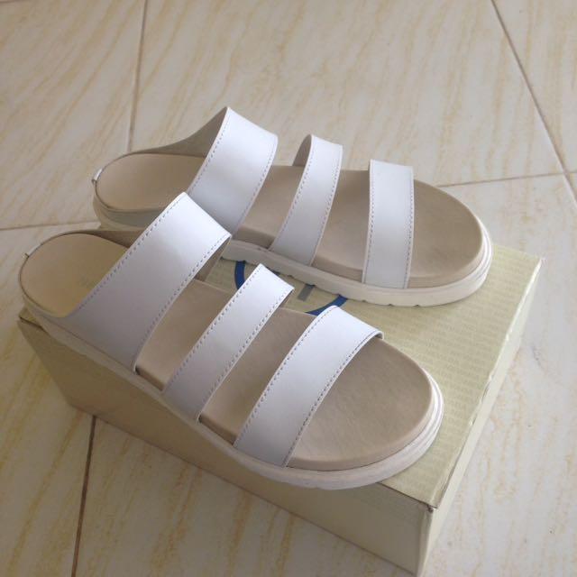 White Platforms Sandal by Nevada