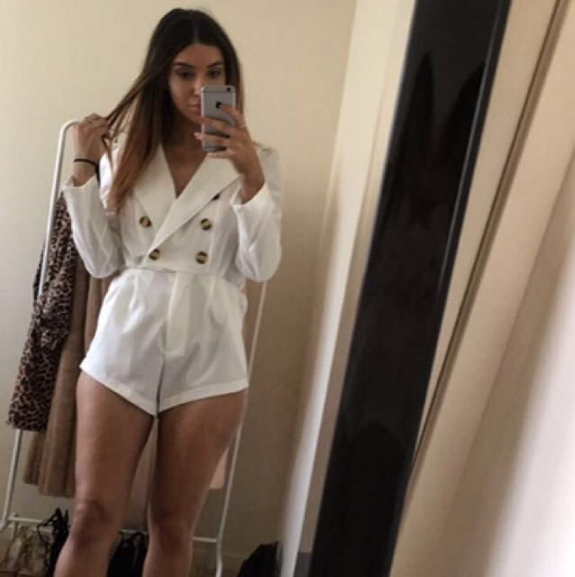 White Playsuit Size 6