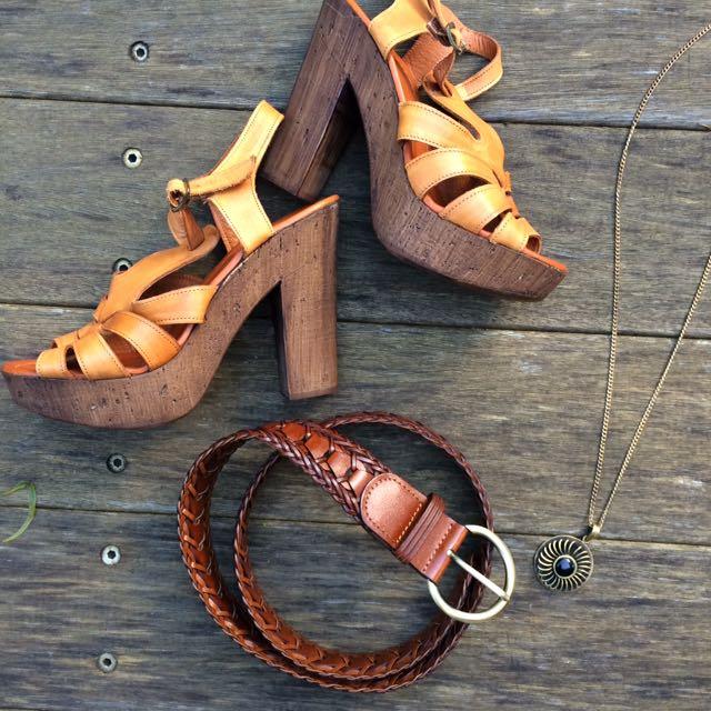 Boho Bundle - Wittner Shoes, Leather Belt, Hippy Pendant