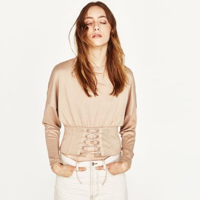 Zara - Cropped Corest Jumper Size Small