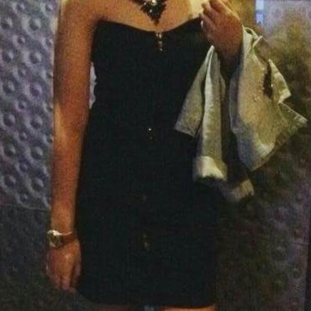 Zara Black Bodycon Tube Dress