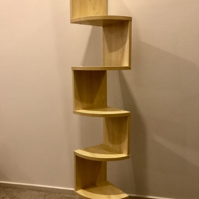 Zig-Zag Wall Mounted Corner Shelf