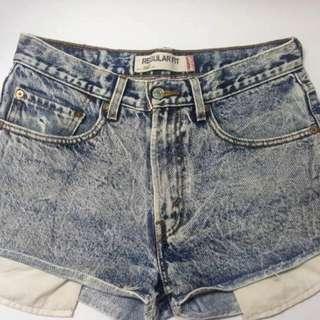 Levi's Stone Wash High Waisted Shorts
