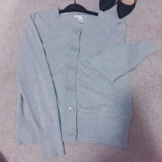 Light Grey Cardigan (M)