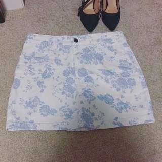 Floral Print Skirt (M)