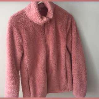 UNIQLO Pink Fuzzy Sweater