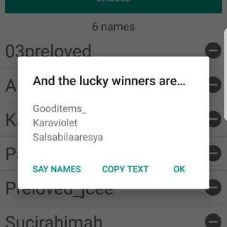 Pemenang #TisGratis Pashmina