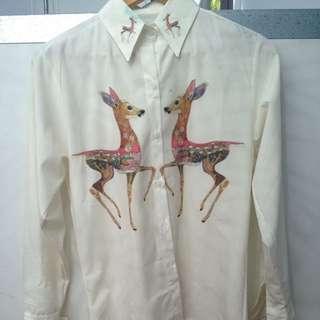 Deer Button Up Shirt