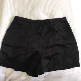 Silk Black Shorts