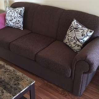 Brown Fabric Sofa From The Brick