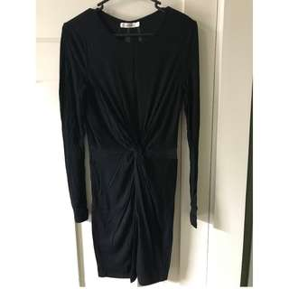 Who I Am Black long-sleeved dress with cutouts