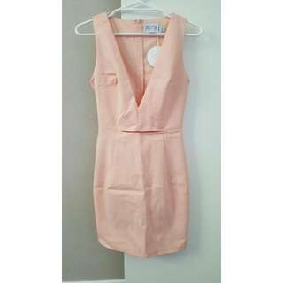 Plunge Mini Dress