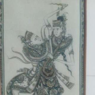 Modern Balinese Painting 2 classical Dancers