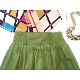 SALE !! Green Skirt