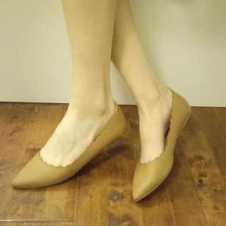 Camel Pointed Toe Flats