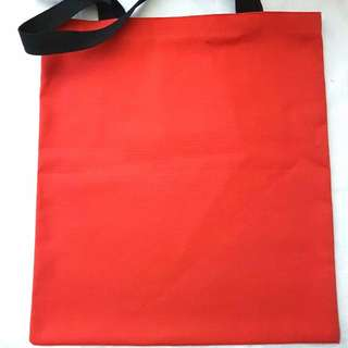 [NEW] [HANDMADE] #bajet20 Plain Red Canvas Tote Bag