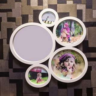 FREE DELIVERY!!!  PRICE REDUCED!! Last 2 Pcs - Round Bubble Photo Frame  ( NOW $14) (UP $32 )