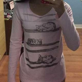 Long Sleeve Cat Shirt