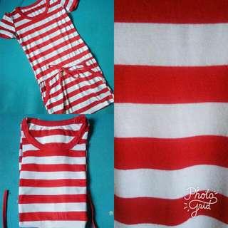 Stripe Red Dress