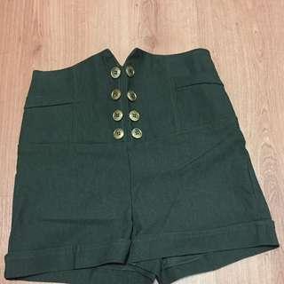 Navy High Waisted Short